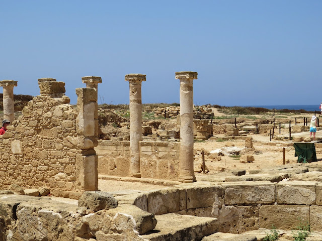 Cyprus Road Trip: Columns at Paphos Archaeological Park