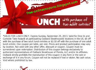 Free Printable Outback Steakhouse Coupons