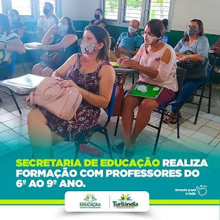TURILANDIA - SECRETARIA DE EDUCAÇÃO REALIZOU MAIS UMA FORMAÇÃO PARA PROFESSORES DA REDE PÚBLICA DE ENSINO.