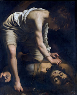 David and Goliath (David with the Head of Goliath) by Michelangelo Merisi da Caravaggio, in Prado Museum, Madrid