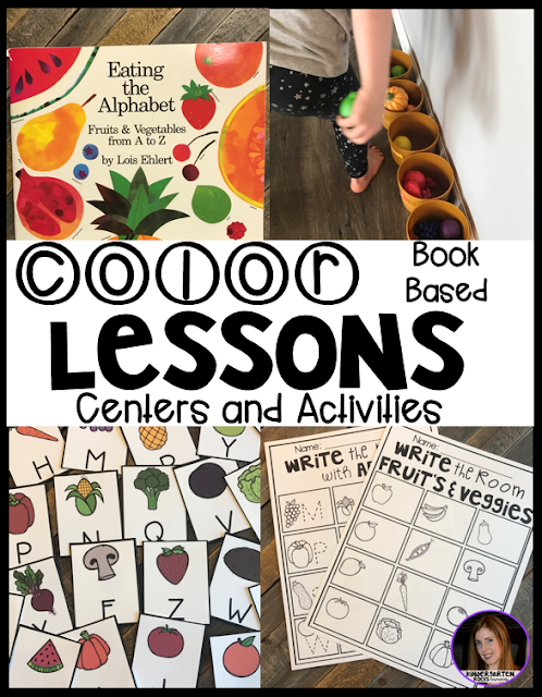 Are you looking for fun hands on activities to work on color identification with your child or students?  Then check out our color themed centers.