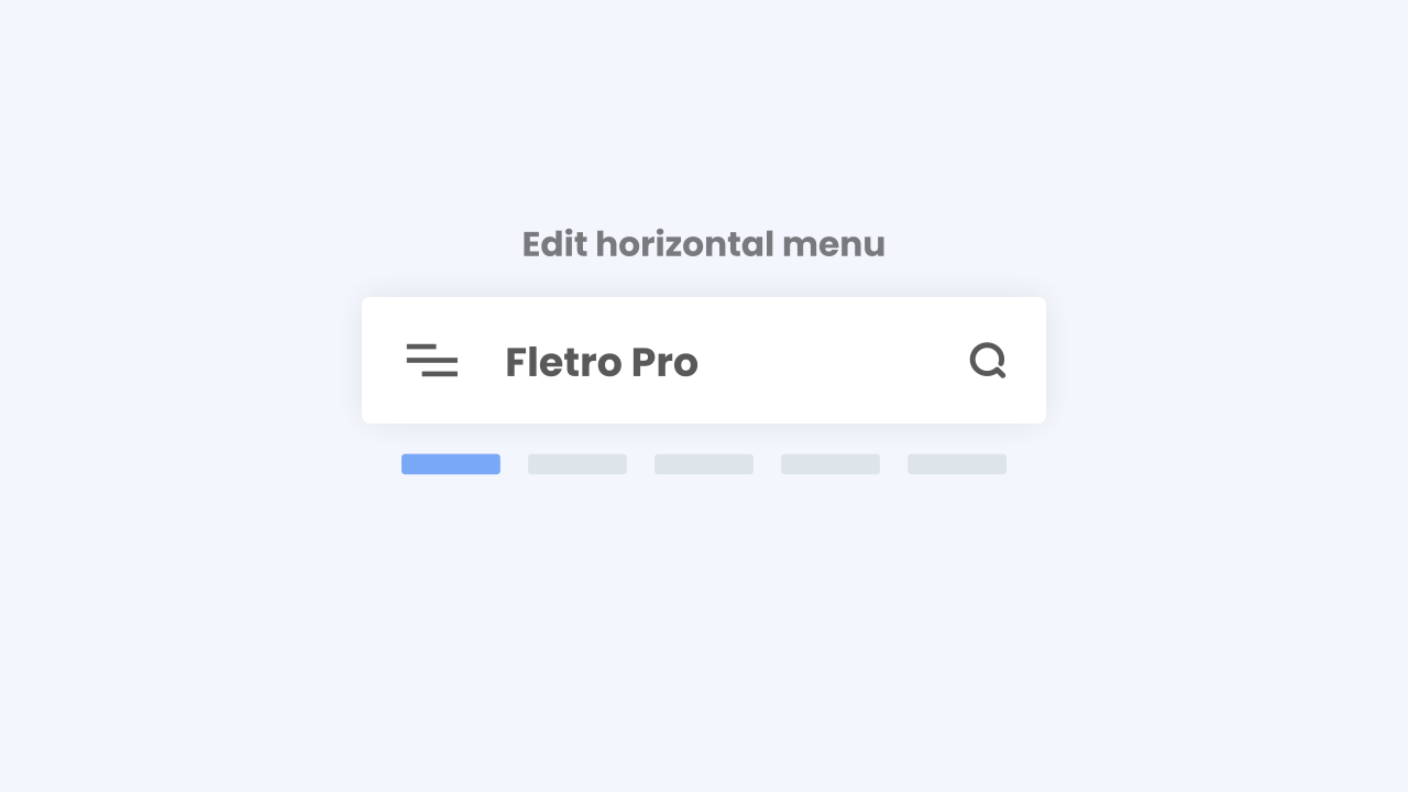Tutorial Setting Horizontal Menu