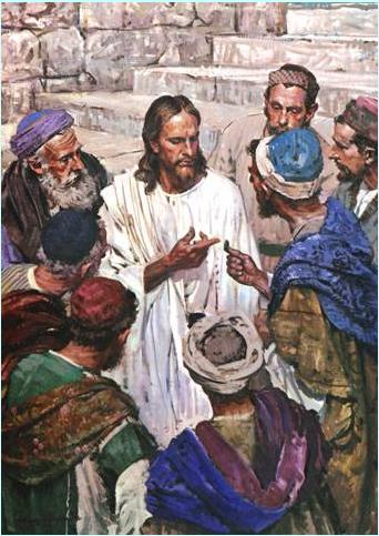 """Resultado de imagen de """"Jesús les dijo: 'Lo del César, devolvédselo al César, y lo de Dios, a  Dios'. Y se maravillaban de él'"""""""