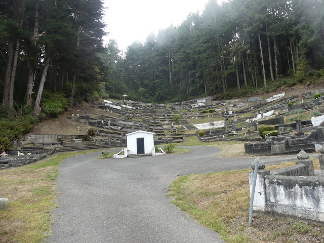 cemetery in the curve of the hill