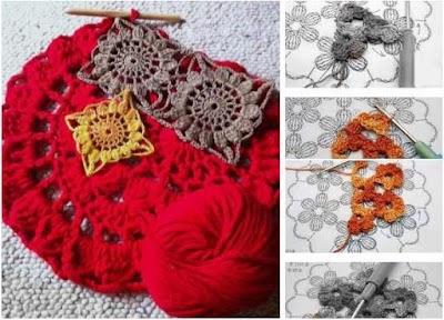 Motivos mandalas conectados a crochet