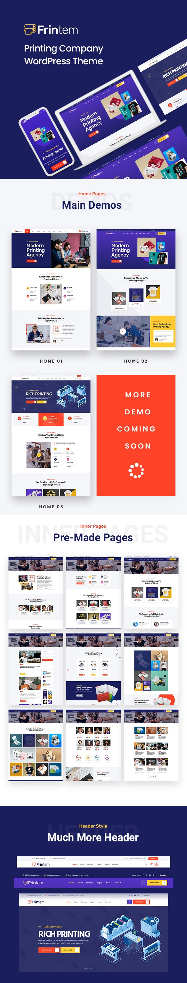 Printing Company WordPress Theme