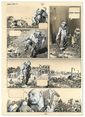 Página de Mutant World de Richard Corben RIP