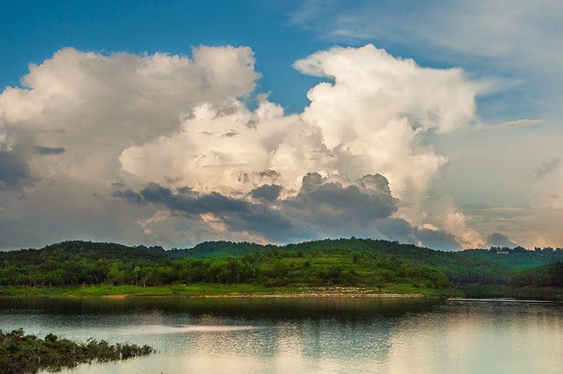 Clouds over Bull Shoals Lake at Theodosia, Missouri