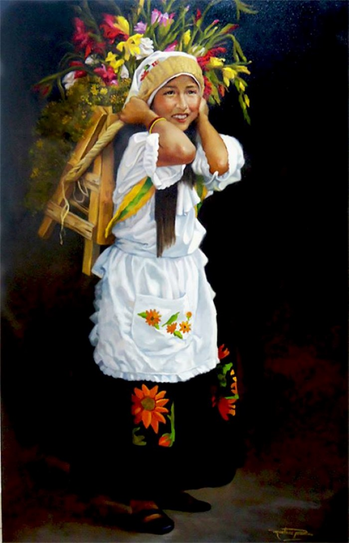 Колумбийский художник-реалист. Carlos Martinez Palomino