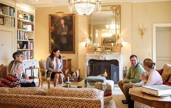 Prince Guillaume, Princess Stephanie and Prince Charles. Paule Ka