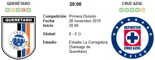 Querétaro vs Cruz Azul en VIVO