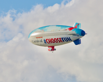 Carnival Cruises Airship to Comes to the Northeast to Celebrate the Inaugural Season of the Carnival Sunrise in New York.