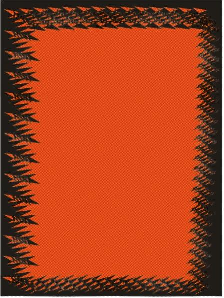 borde negro y naranja, borde naranja, bordes sicodelicos, bordes llamativos, bordes alocados, fondos negros para portadas