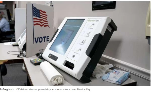 Officials remain vigilant about possible cyber threats after a peaceful election day
