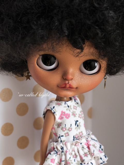 Kala OOAK custom doll black eyes