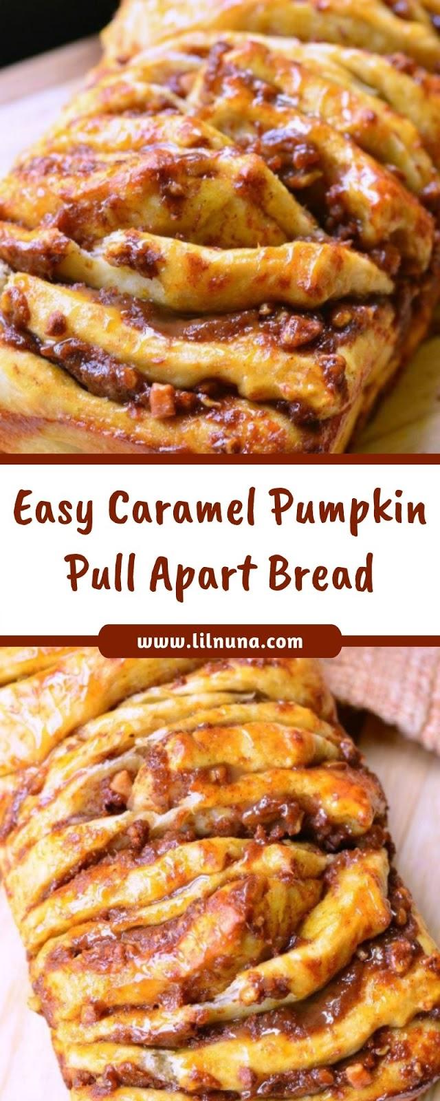 Easy Caramel Pumpkin Pull Apart Bread