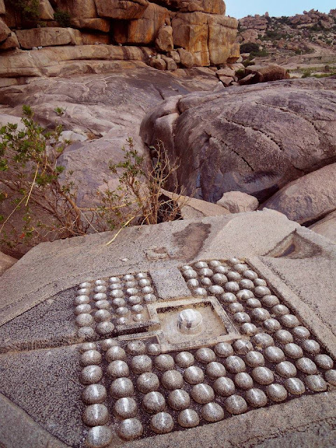 101 Shiva lingas on the banks of the Tungabhadra river, Hampi.