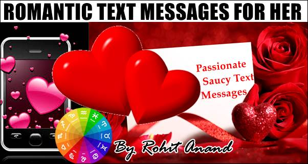 Romantic Text SMS Messages for Her, Short I Love You text messages