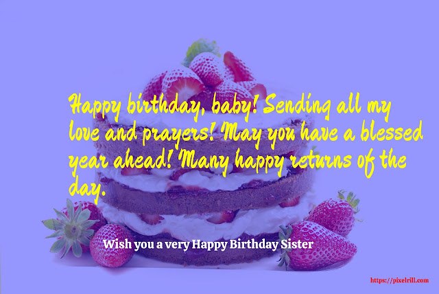 Birthday Greeting card for Sister