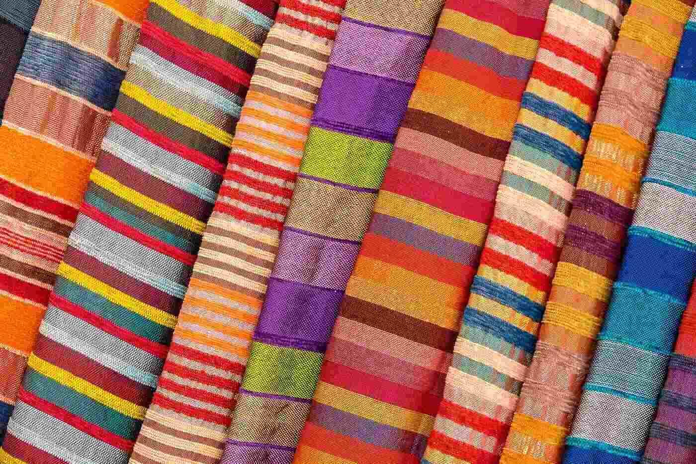 multi-coloured fabrics - fair trade vs colourful fashion