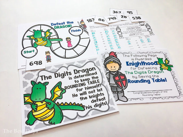 Digits Dragon and rounding activities picture