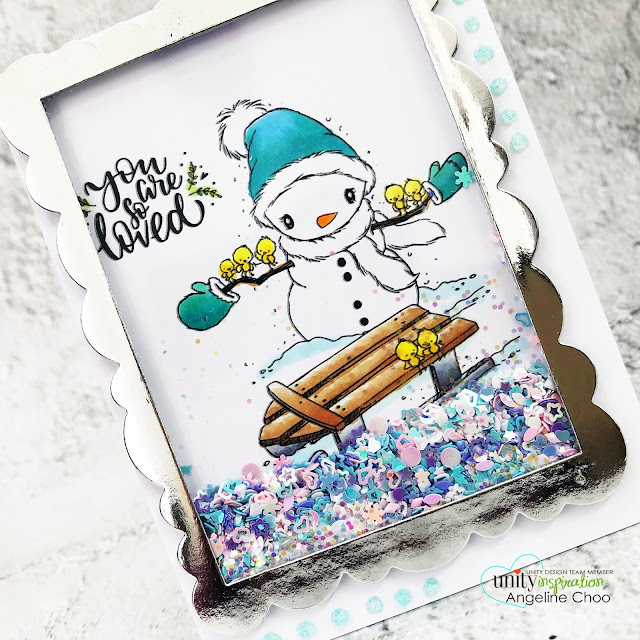 ScrappyScrappy: Cyber Monday with Unity Stamp #scrappyscrappy #unitystampco #stamping #card #cardmaking #youtube #quicktipvideo #cybermonday #allthesmallthings #snowman #holidaycard #christmascard #winterwonderland #shakercard #interactivecard #framedshakercard #averyelle #averyelleframedie #metallicpaper #nuvoglitterdrops