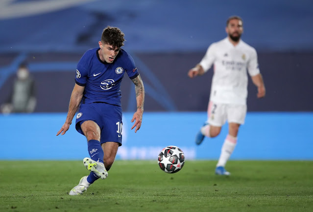 Chelsea forward Christian Pulisic against Real Madrid