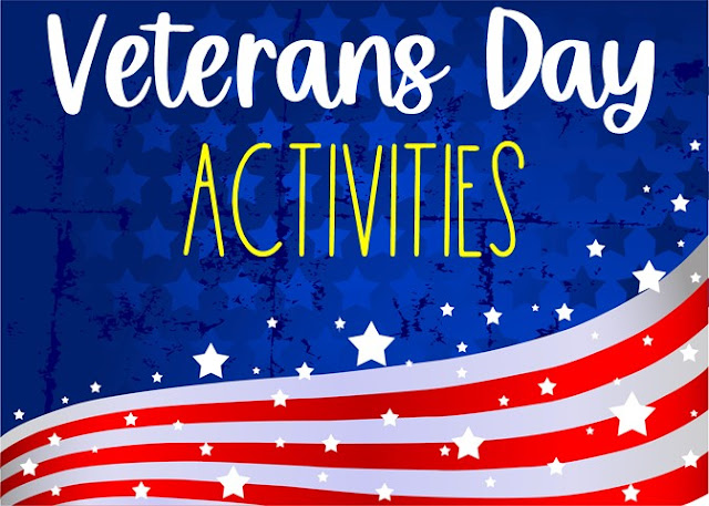 Veterans Day activities for in classroom and remote learning students in grades 4 5 6