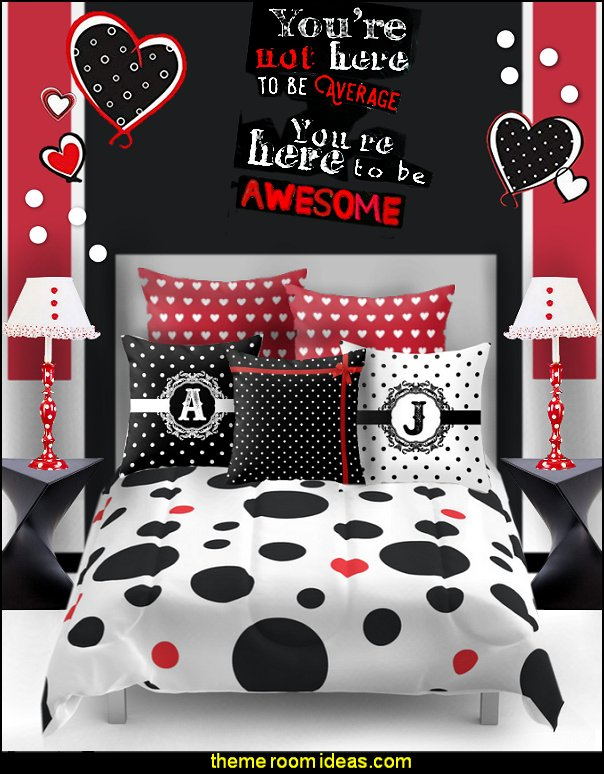 polka dot bedroom decorating ideas - polka dot wall decals -  polka dot bedroom theme - bedroom circles - polka dots decor  - polka dot wall murals - polka dot bedding - Polka Dot decals - polka dot walls - polka dot pillows - polka dot comforters - polka dot duvets -