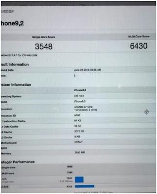 Toàn bộ thông tin rò rỉ về iPhone 7 Plus trên Geekbench