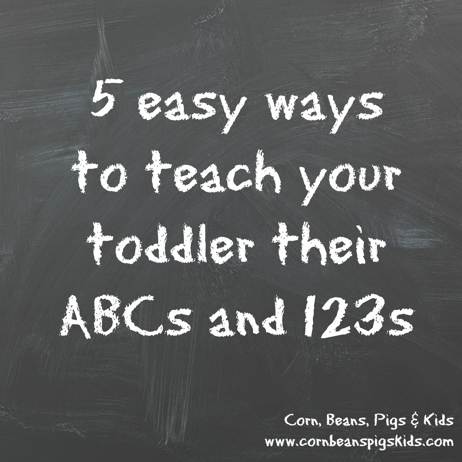 Corn Beans Pigs And Kids 5 Easy Ways To Teach Your