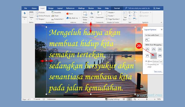 cara membuat tulisan di atas gambar di microsoft word 2013