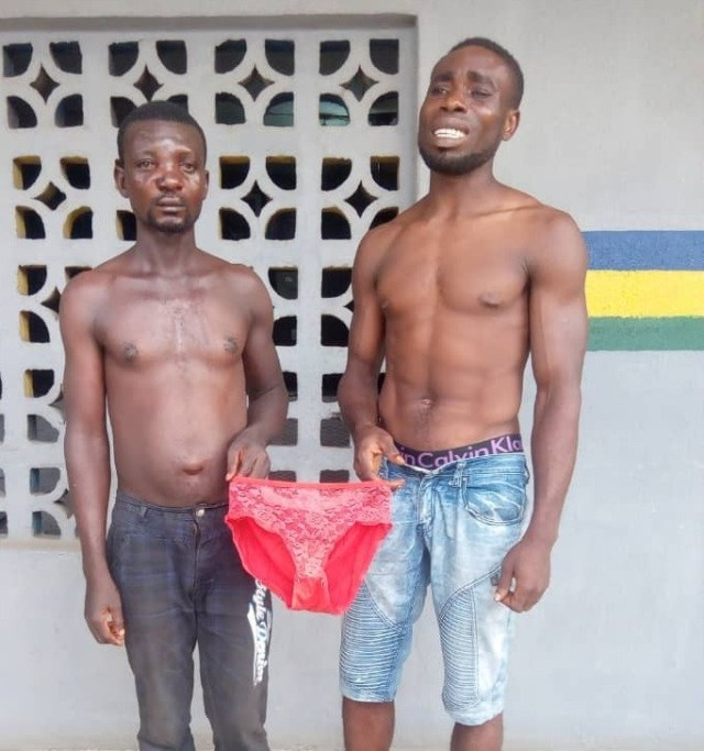 Police arrest three for stealing female pants in Lagos, Ogun