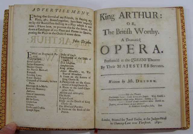 Lbretto of John Dryden and Henry Purcell's King Arthur (1691)
