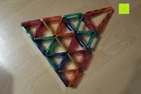 Turm Seite: Playbees 100 Teile Magnetische Bausteine Set für 2D und 3D Form Konstruktionen, Regenbogenfarben Magnetspielzeug, Baukasten Magnetspiel, Magnetbausteine