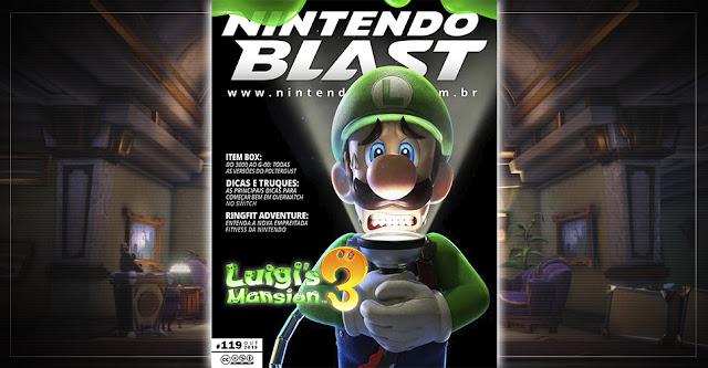 Revista Nintendo Blast Nº 119 é assustadoramente especial com Luigi's Mansion 3, Pokémon Sword/Shield e muito mais