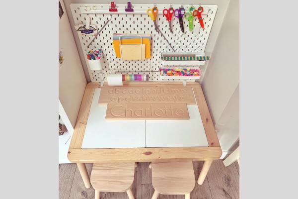 Ikea flisat table skadis pegboard desk with closed lids