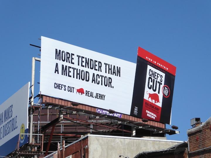 Chefs Cut jerky extension billboard