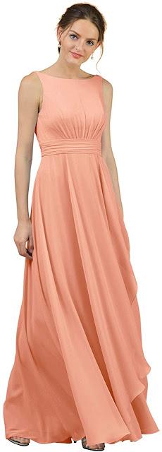 Best Peach Chiffon Bridesmaid Dresses
