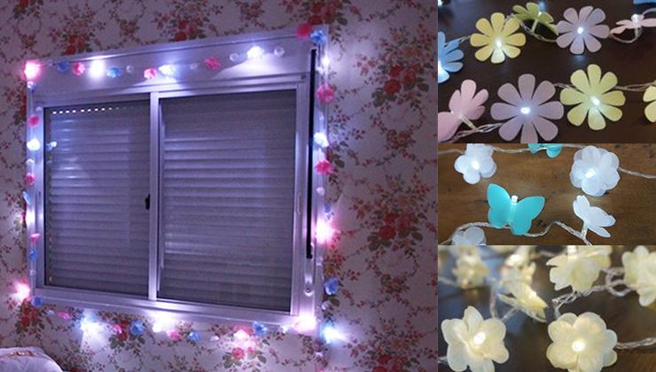 quarto de adolescente, luzes de led