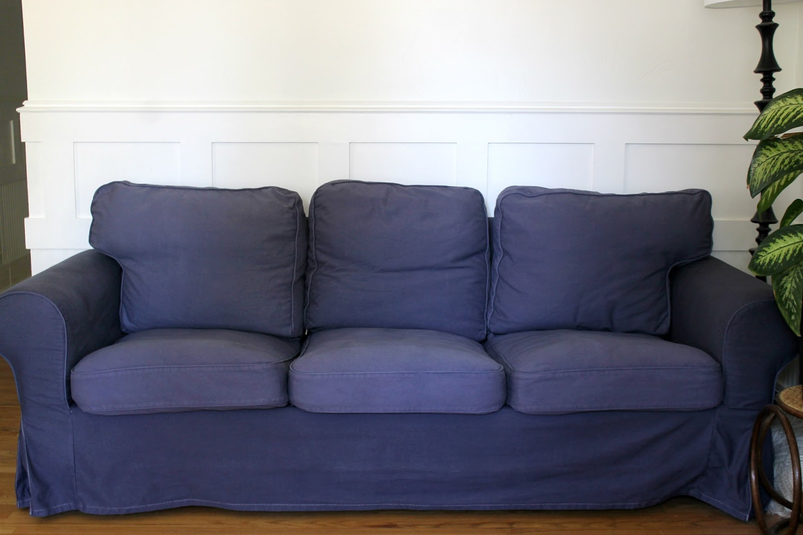 Rp Corner Sofa Cover Harris Tweed Sofas John Lewis How To Dye A White Ikea Ektorp Navy Blue The Wicker