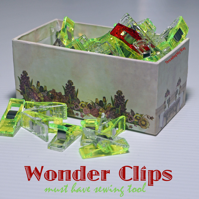 Wonder Clips - must have sewing tool. Clover Wonder clips versus other brands ~ Threading My Way