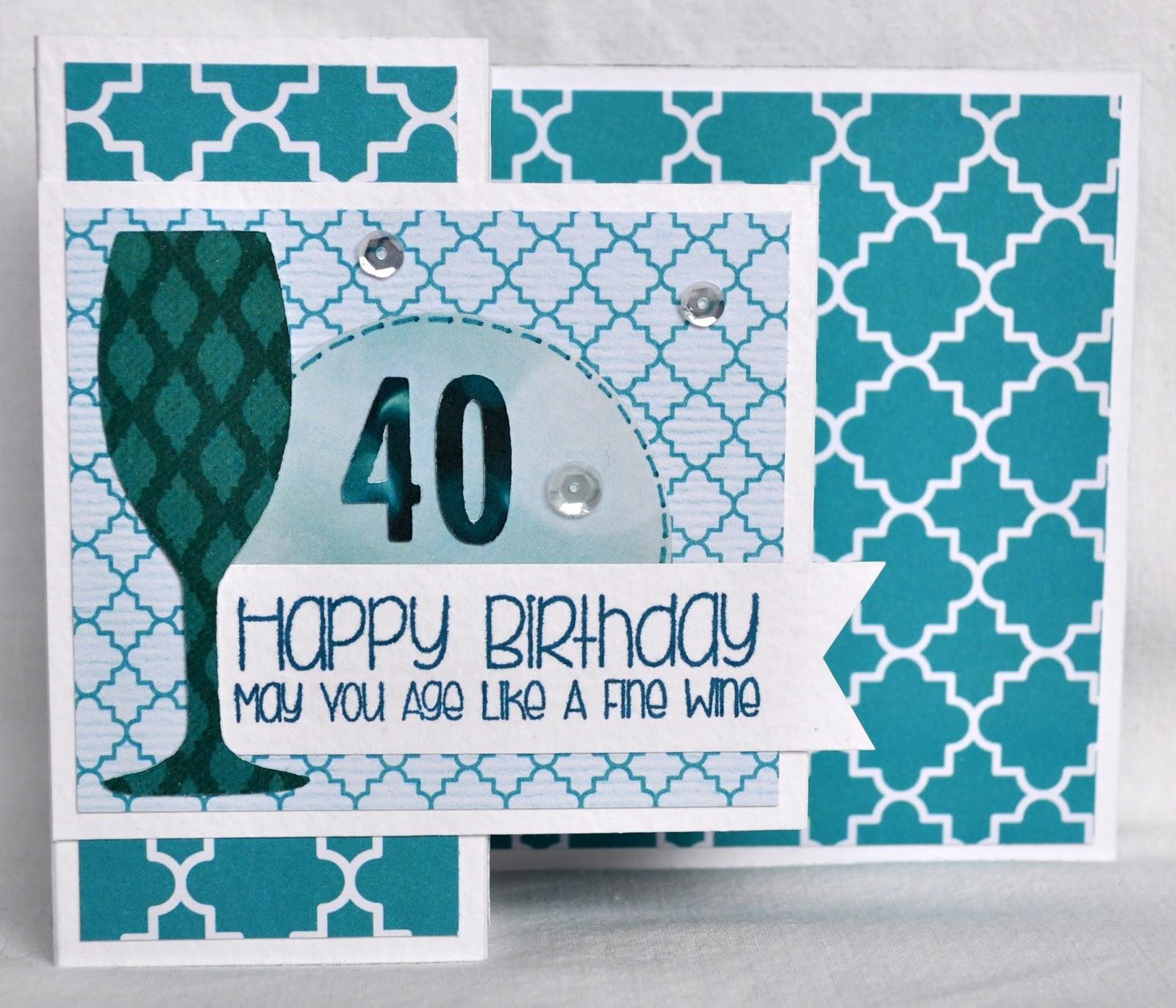 DAT S My Style Brandi s 40th Birthday Card