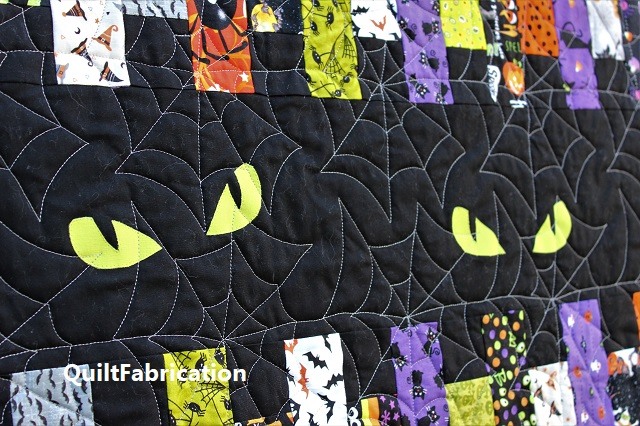 Fright Night spooky eyes by QuiltFabrication