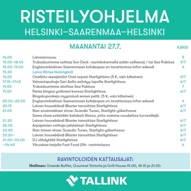 Helsinki Saarenmaa risteily