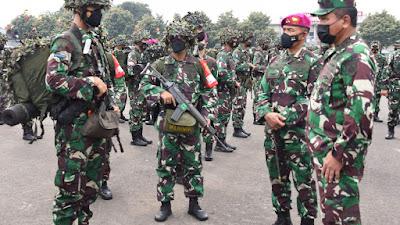 Jelang Latihan Puncak TNI AL, Marinir Gelar Apel Kesiapan