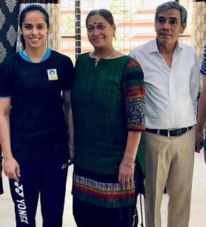 Saina Nehwal With Her Parent