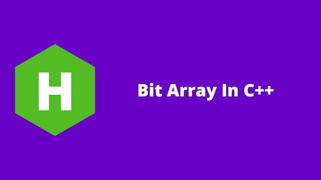 HackerRank Bit Array in C++ problem solution