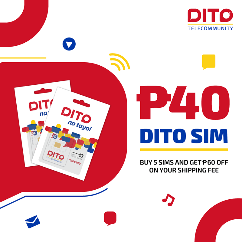 DITO SIM cards and Data promos are discounted in Lazada and Shopee 9.9 sale