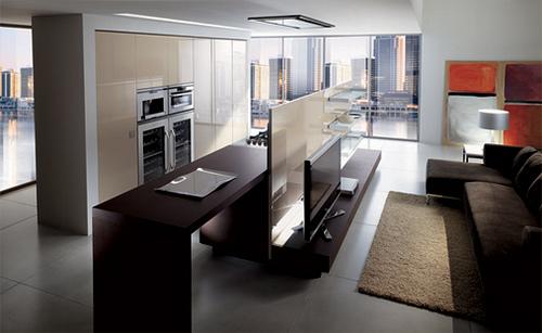 Separar una cocina de la sala colores en casa for Ideas para dividir sala y cocina